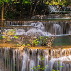 Thailand Waterfall by John Greene - Landscapes Waterscapes ( waterfall, wonderfil, thailand, enchanted, magic place, scenic, john greene, natural, huaymaekhamin, kanchanaburi )