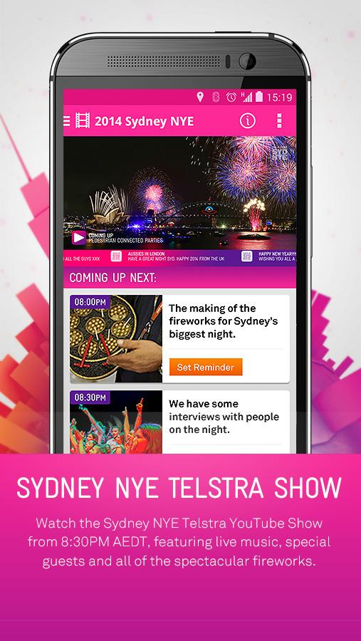2014 Sydney New Year's Eve App- screenshot