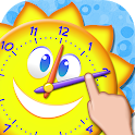 Telling Time Games For Kids icon