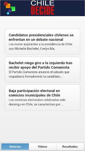 【免費新聞App】Chile Decide 2013-APP點子