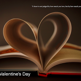 A heart by Anita  Christine - Typography Quotes & Sentences ( valentine's day, love, heart, february, lighting, book, postcard, valentine,  )