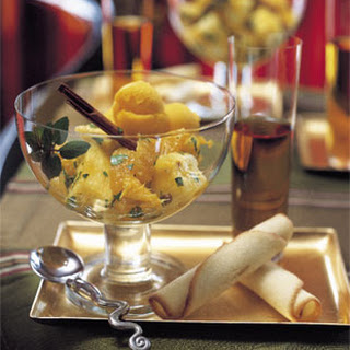 Oranges and Pineapple with Orange-Flower Water and Mint