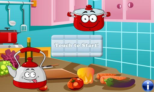 食物的孩子 遊戲為幼兒 教育遊戲