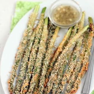 Roasted Asparagus with Lemon Parmesan Bread Crumbs.