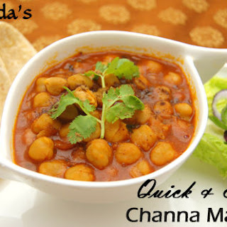 Arvinda's 10-minute Channa Masala.