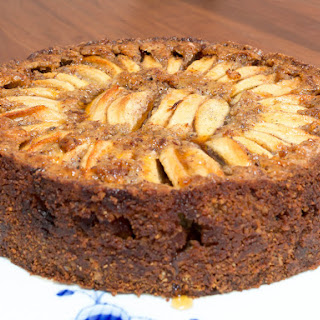 Apple Cake with Hazelnuts and Apple Syrup.