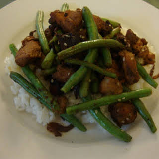 Szechwan Chicken with Green Beans.