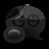 GO SMS PRO THEME Black Gloss