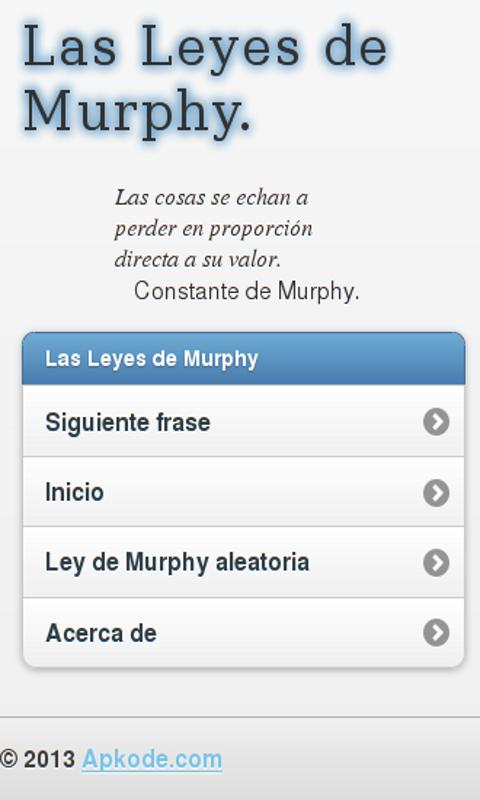 Murphy's laws - screenshot