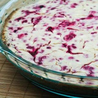 Low-Sugar Rasberry Cheesecake with Pecan Crust