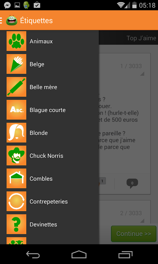 Blagues - screenshot