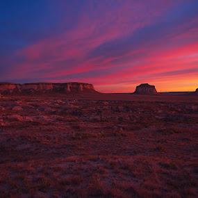 Buttes Sunrise by Johnny Gomez - Landscapes Prairies, Meadows & Fields ( pink sky, buttes, colorado, sunrise, prairie )