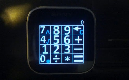 Calculator for Sony SmartWatch - screenshot thumbnail