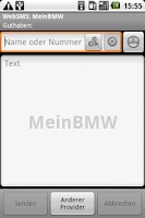 Screenshot of WebSMS: MeinBMW Connector