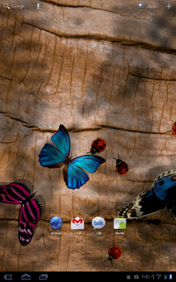 Friendly Bugs Live Wallpaper - screenshot