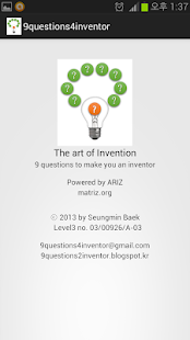 9 questions for inventor - screenshot thumbnail
