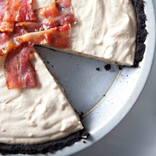Frozen Peanut Butter Pie with Candied Bacon.