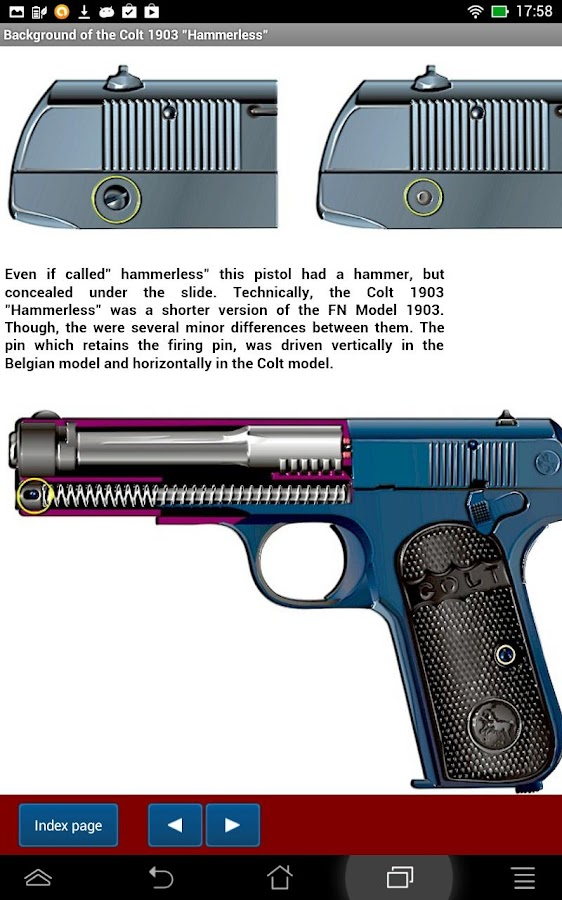 "Colt 1903 pocket ""hammerless""- screenshot"