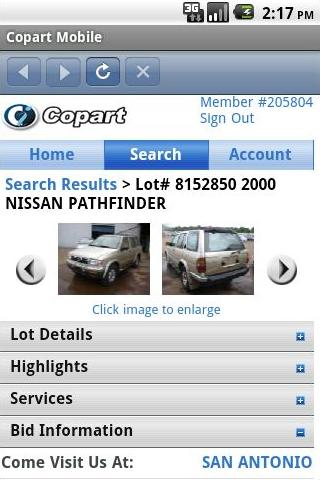 Copart Mobile - screenshot