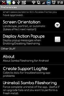 Samba Filesharing for Android- miniatura screenshot