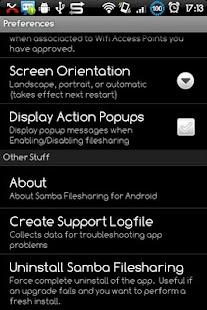 Samba Filesharing for Android – miniatura snímku obrazovky