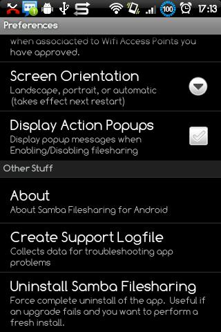 Samba Filesharing for Android - screenshot