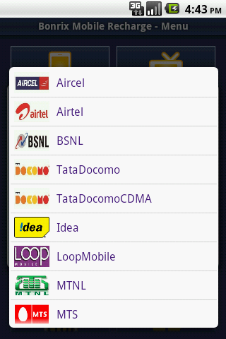 Bonrix Mobile Recharge- screenshot