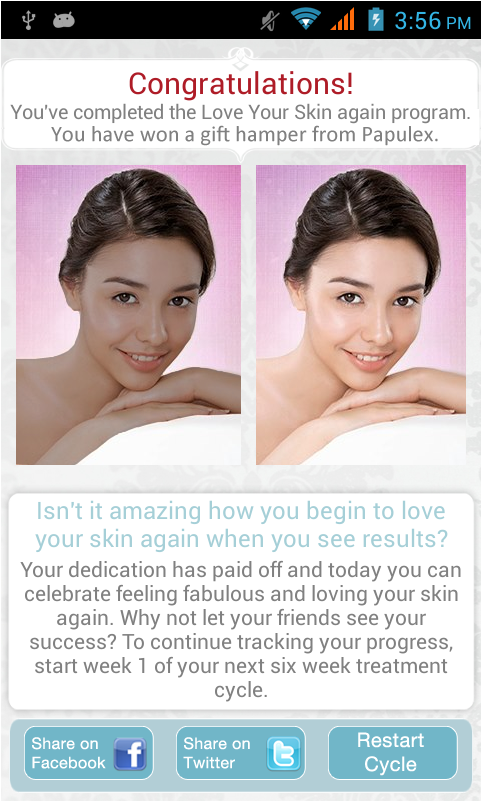 Loveyourskin- screenshot