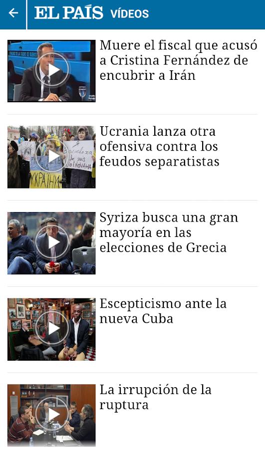 EL PAÍS para smartphone - screenshot