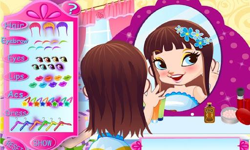 可爱的女孩魔镜