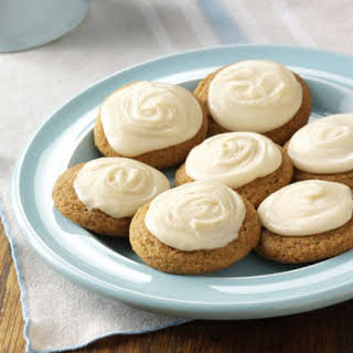 Frosted Ginger Cookies.