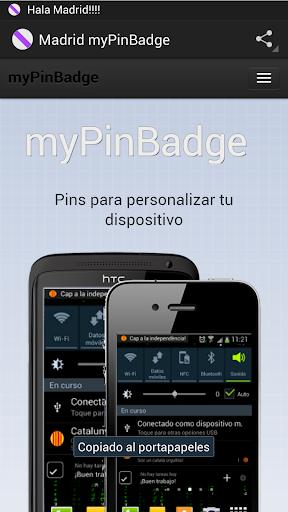 Madrid myPinBadge
