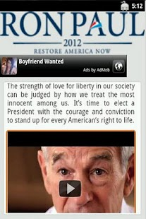 Ron Paul - The App - screenshot thumbnail