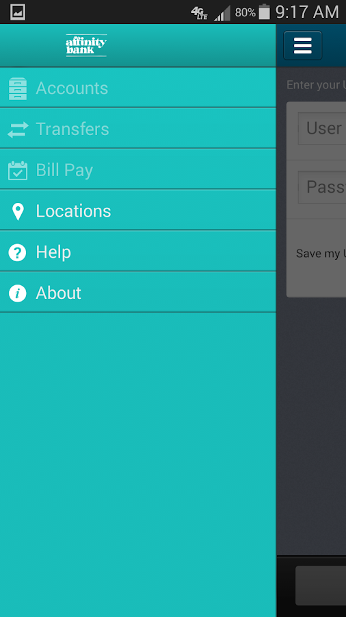 Affinity Bank Mobile Banking - screenshot