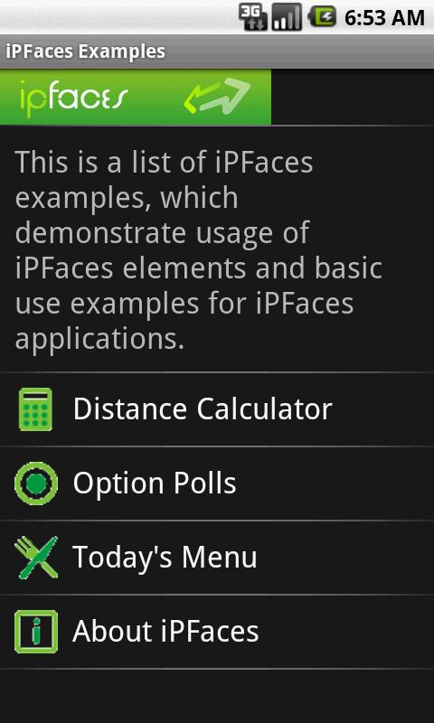 iPFaces Client - screenshot