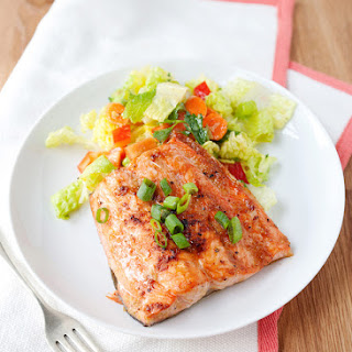 Quick Broiled Ginger Salmon.