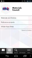 Screenshot of Materials Council