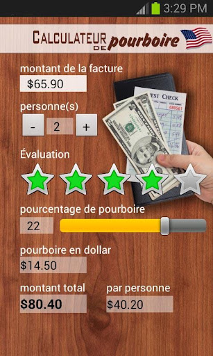 Calculateur de pourboire USA