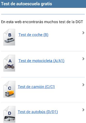 Test de autoescuela DGT gratis