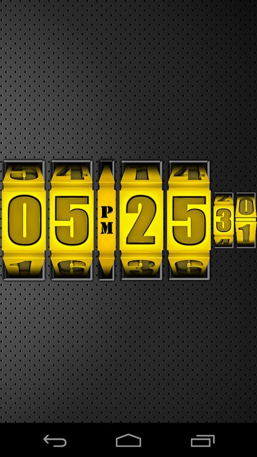3D Rolling Clock GOLD - screenshot
