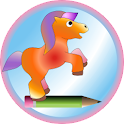 Cute pony logo