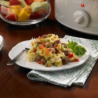 Slow Cooker Overnight Breakfast Casserole.