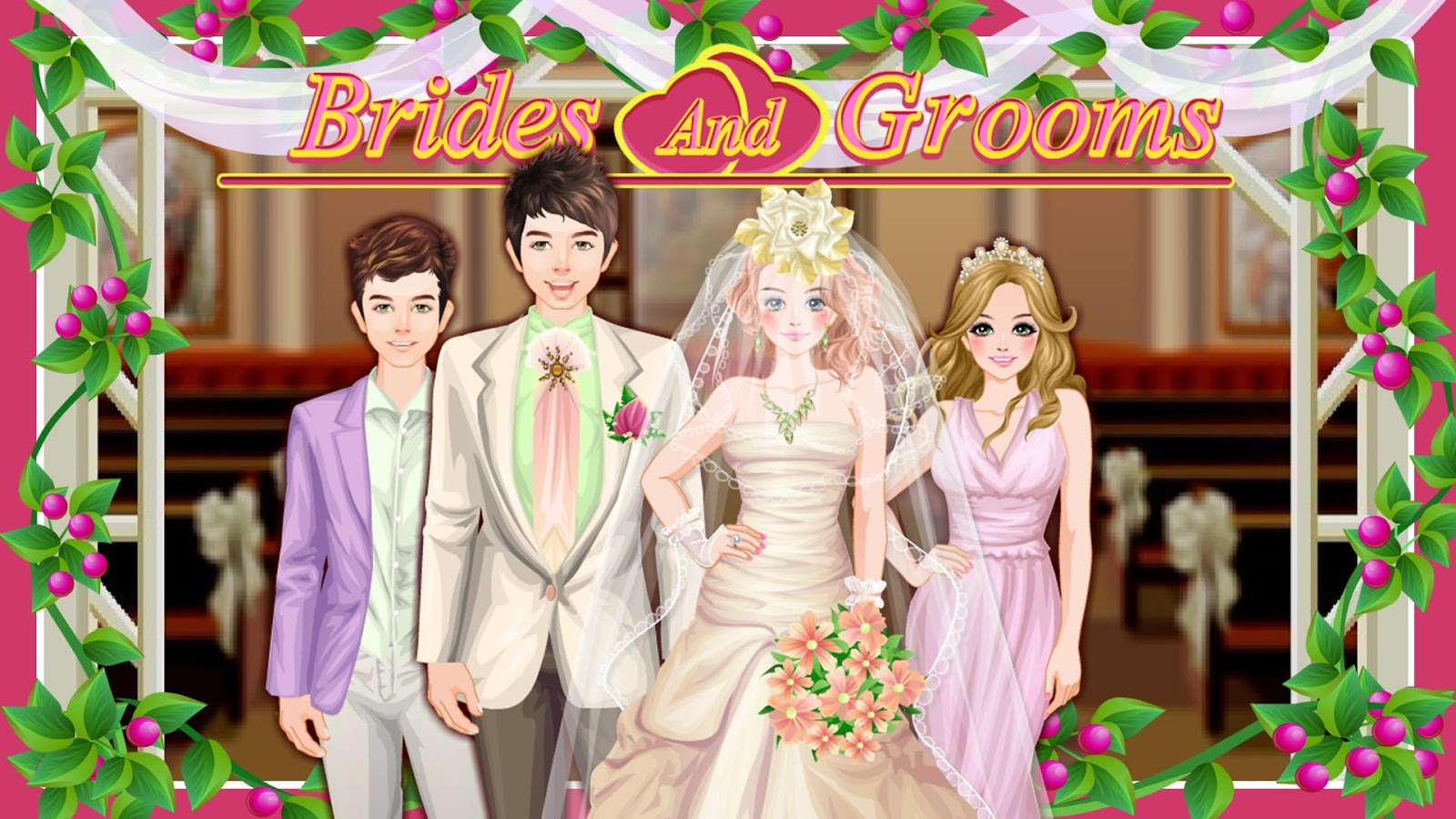 Wedding dress up games bride and groom flower girl dresses for Dress up games wedding