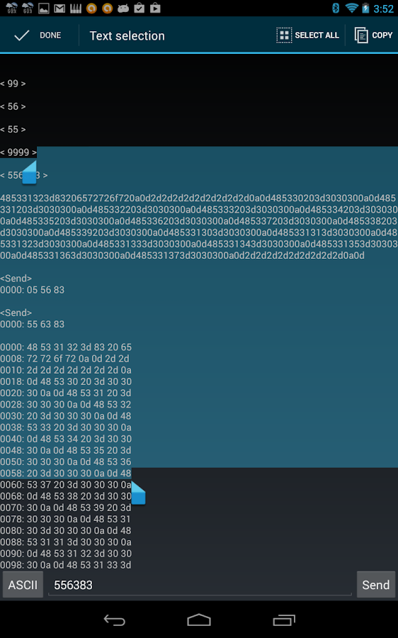 Terminal for Bluetooth- screenshot