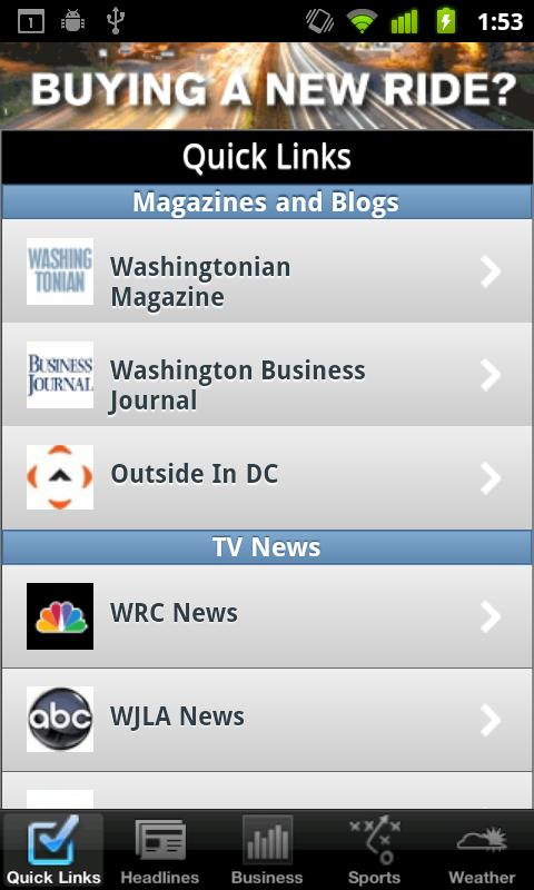 Washington D.C. Local News - screenshot