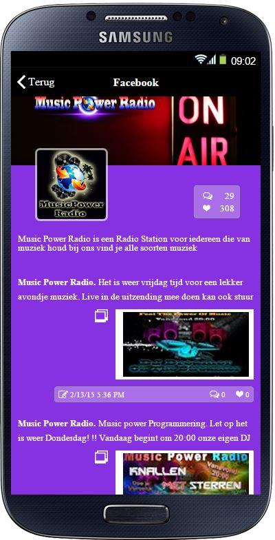 Musicpowerradio: screenshot