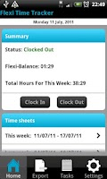 Screenshot of Flexi Time Tracker