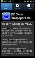 Screenshot of EZ Clock Wallpaper Lite