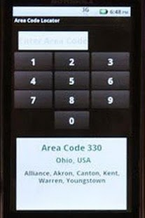 Area Code Locator - screenshot thumbnail