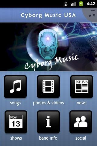 Cyborg Music ® ™ © - screenshot